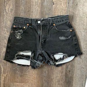 Vintage Levi's Black Cutoff shorts